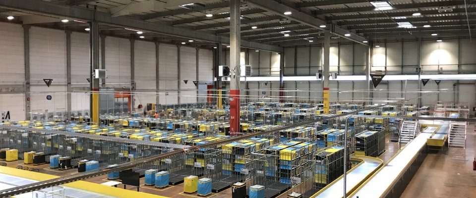Photo de la plateforme logistique Amazon Logistics à Woippy